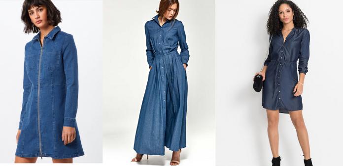 Najmodniejsze sukienki jeansowe na sezon 2019