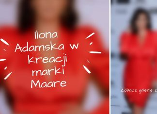 Ilona Adamska w kreacji marki Maare