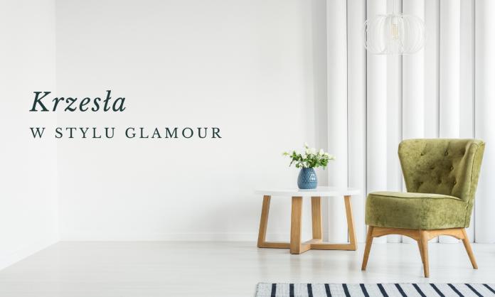 Krzesła w stylu glamour