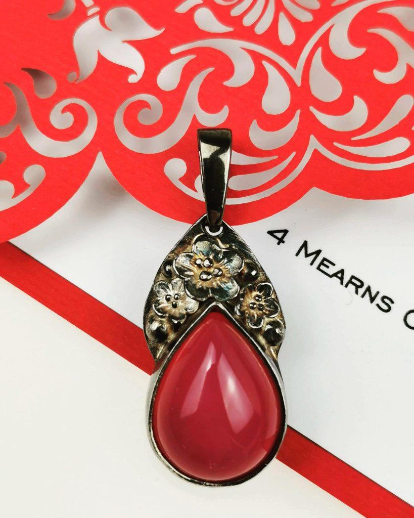 naszyjnik Carmen - czerwony agat