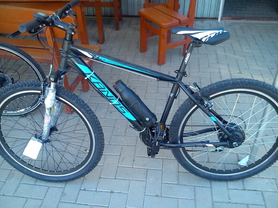 Fot. Przykład roweru górskiego przerobionego na elektryczn