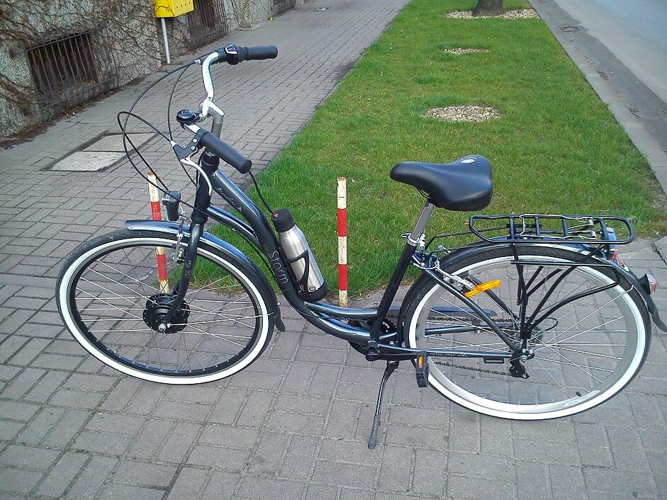Fot. Rower miejski po konwersji na elektryczny (ZibiBike.pl)