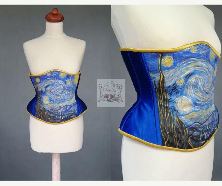 Gorset inspirowany obrazem Vincenta Van Gogha