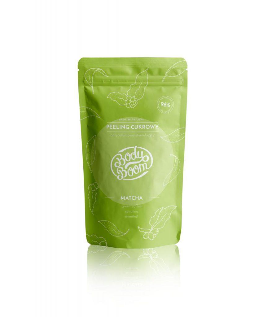 Peeling Cukrowy Matcha Antycellulitowo-Stymulujący Zielonooki Towarzysz