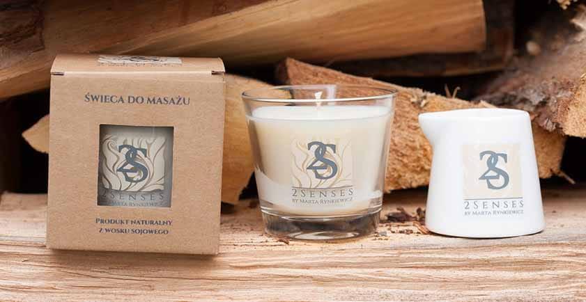 naturalne świece do masażu
