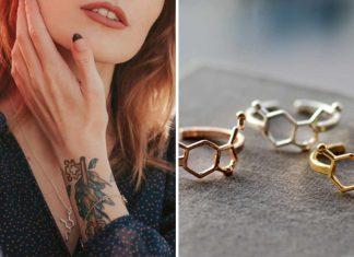 Biżuteria z wzorami molekuł szczęścia